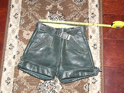 Vintage Authentic Leather Children's Oktoberfest Lederhosen Pants 24""