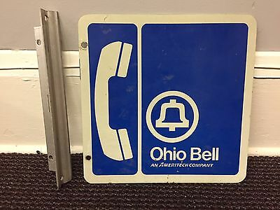 Ohio Bell Ameritech Company Payphone Sign At&t Vintage Collectible Rare