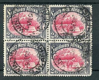 South West Africa 1931 2/6 SG82 used block