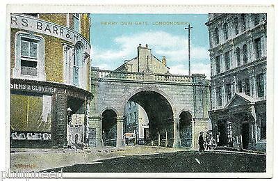 FERRY QUAI GATE LONDONDERRY GD&D c1910 NOT POSTED [A698