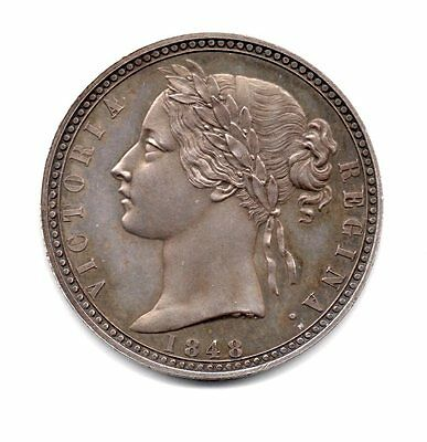 1848 Proof/pattern Florin Coin Victoria, Very Rare