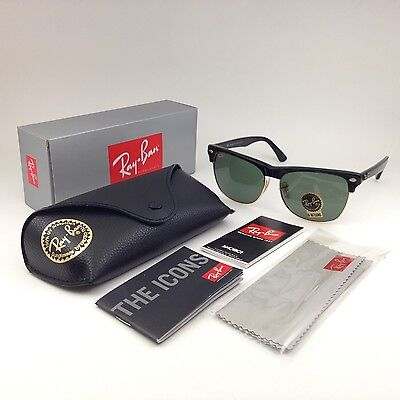 Oversize Clubmaster Ray-Ban New Sunglasses Classic Green Matte Black RB4175 57mm