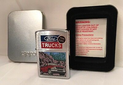 Zippo Lighter Ford Truck with Gravel 200F 397 Brushed Chrome I 1997