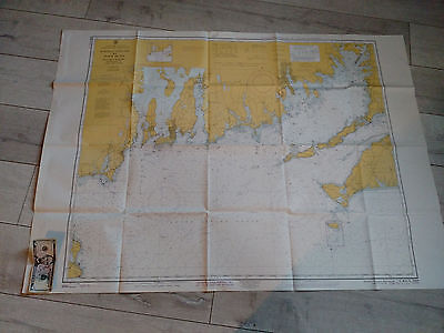 Vintage Boating Nautical Chart Map  Marthas Vineyard  Cape Cod Massachusetts