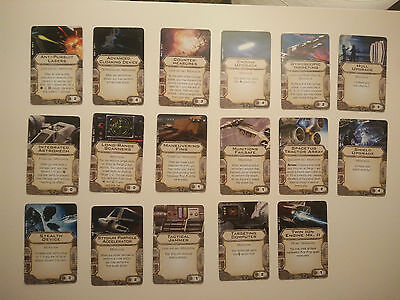 Star Wars X-Wing Upgrade Cards - Modifications *MINT*