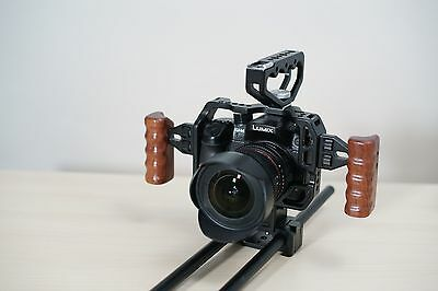 CAME-TV Protective Cage For Panasonic GH4 Camera Rig With Handle/Rods HT-GH4
