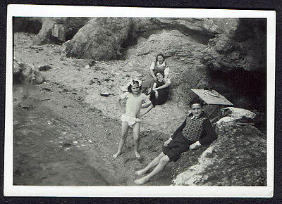 Snapshot1951 Family Beach / Photo Ancienne Famille Plage
