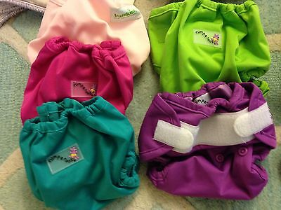 Newborn Rumparooz & Bumkins Cloth Diaper Covers Lot Of 5