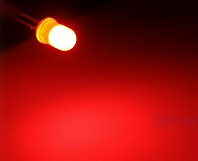 10 xa0605 Diffuse 3mm Red Ultra Bright LED, ogeled Diffuse 3mm Leds ,