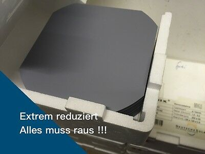 200 x Monokristalline Siliziumwafer, Silicon Wafers SOLSIX, 125 mm, P-type Boron