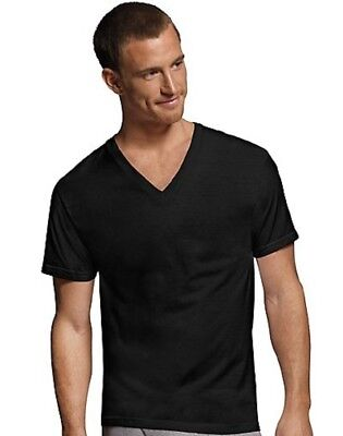 Hanes Men's V-Neck T-Shirts Comfortsoft 4-pack S-2X 100% Cotton or Cotton Blend
