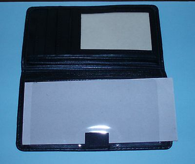 Munro American Checkbook Cover with Slots for ID and Credit Cards