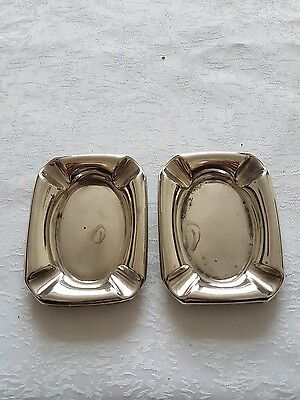 Solid Silver Ashtrays