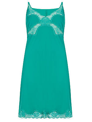 NEW M*S Size 12 - 22 Cool Comfort Sea Green Lace Full Trim Slip Ant Static