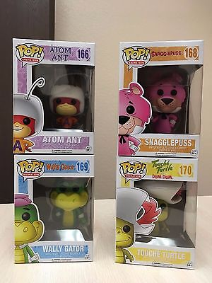 Funko Pop! Animation HANNA BARBERA Set 4 Snagglepuss Atom Ant Wally Gator Turtle