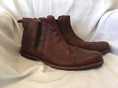 Men's Timberline Boot Company Ankle Boots, Brown Leather Size 44 10.5 Shoes