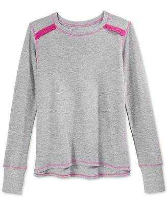 LAYERS 8 $22 NEW 0811 Gray Crochet Accent Tee Girl Baby Toddler Top 3T