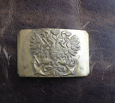 WWI Russian Imperial navy Tsar Tsarist WW1 naval belt buckle Russia not Soviet