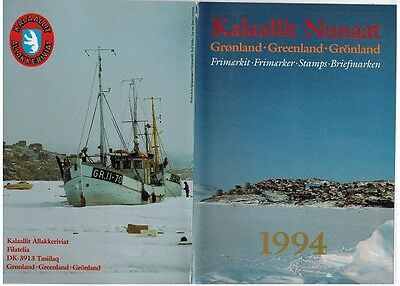 Grønland $110 USD+ val. Greenland stamps 1994-1995 in Year Folder' MNH