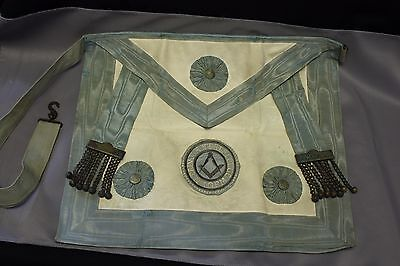 RARE MASTER MASON APRON in LEATHER POUCH - prince ruppert's lodge, No 1 G.R.M.