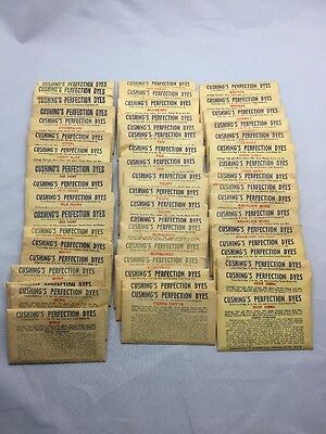 52 Cushing Perfection Dyes packets Wool Dye Many Colors Cushing's Lot