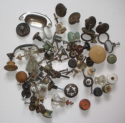 Opportunity For a Large Collection of Vintage 50+ Drawer Pulls & Some Hardware