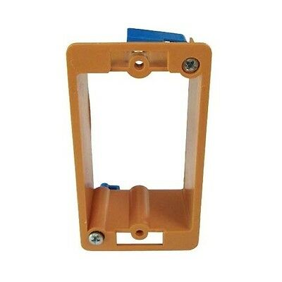 Eagle Wall Plate Mounting Bracket Holder Single Gang PVC Low Voltage Box Orange