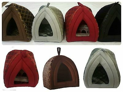New LUXURY Warm PET DOG CAT IGLOO CAVE HOUSE ~ Small & Large Sizes ~ 4 COLORS ~