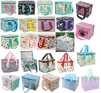 Floral Vintage Insulated Lunch Bag Recycled Cooler Bags Children Kids School qa