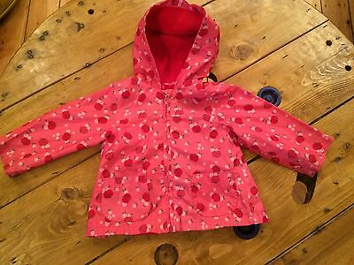 Gorgeous lightweight pink Mothercare rain mac jacket for 12-18 months girl