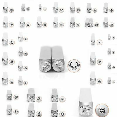 Metal Jewelry Design Stamps by ImpressArt (ANIMALS & NATURE) 6mm NEW!!!
