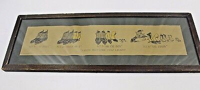 Vintage Look Before You Leap Print Act 1 thru Act 4  Shoes and Marriage 1904