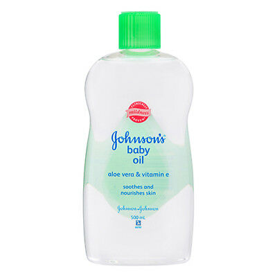 NEW Johnson's Baby Oil With Aloe Vera And Vitamin E For Silky Soft Skin 500ml