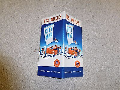 1940s Union 76 Los Angeles, CA Advertising Road Map very fine, complete
