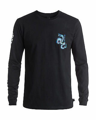 NEW QUIKSILVER™  Mens Time Frame Long Sleeve T Shirt Tee Tops