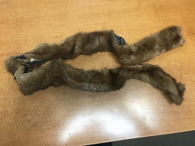 Antique Vintage Brown Mink Fur Collar