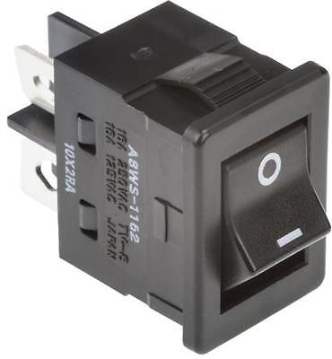 Omron Rocker Switch, A8WS-1162 SPST On/Off, 16 Amp 240 Volts AC Heavy Duty