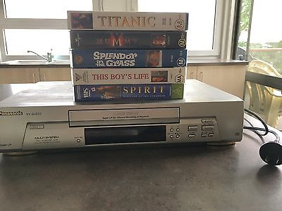 Panasonic Video Recorder And Player **Comes With 5 Video Movies**
