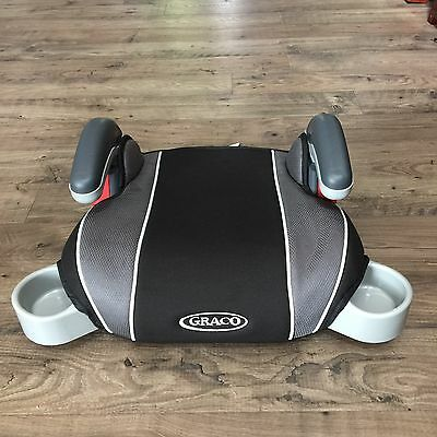 Graco Backless Turbo Booster Car Seat Gray Black 2-Week Old