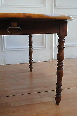 Antique Farmhouse Solid Oak Drop Leaf Extendi Dining Table - 2 Leaves