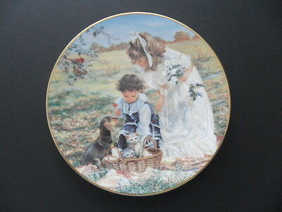 """Limited Edition Collector Plate """"Delightful Bundle"""" by Sandra Kuck, Reco"""