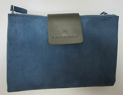 Air France Blue Faux Suede Amenity Travel Kit Business Class Amenities Included