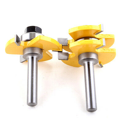 Matched Tongue and Groove Router Bit Set 8MM Shank