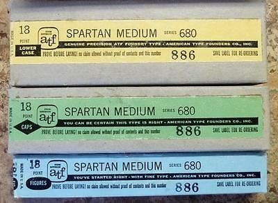 Letterpress Metal Type 18 pt ATF SPARTAN MEDIUM Font New, complete