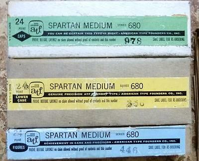 Letterpress Metal Type 24 pt ATF SPARTAN MEDIUM Font New, complete