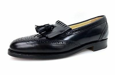 Bostonian Shoes Dress Shoes Black Leather Wing Tip Tassel Size 8 1/2 M Men