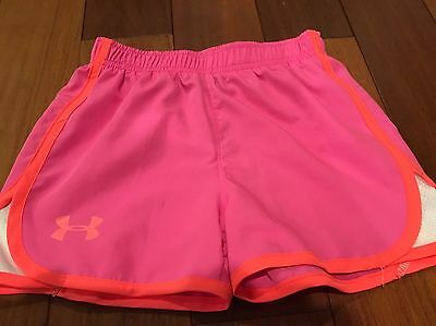 Under Armour Girls Shorts Pink Size Youth 5 Loose Fit EUC