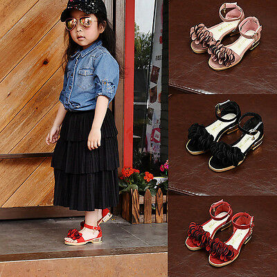 Girls' Fashion High Heels Party Princess Shoes Children's Summer Casual Sandals