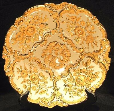 *REDUCED* Antique Meissen Plate / Bowl White with Gold Crossed Swords Leuteritz