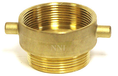 """NNI FIRE HOSE HYDRANT REDUCING ADAPTER 3"""" Female NPT x 2-1/2"""" Male NST NH"""